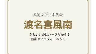 渡名喜風南はハーフなの?プロフィールや出身がどこなのかを調査!