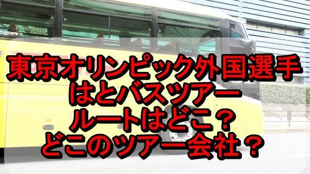 東京オリンピック外国選手のはとバスツアーのルートはどこ?ツアー会社も調査!