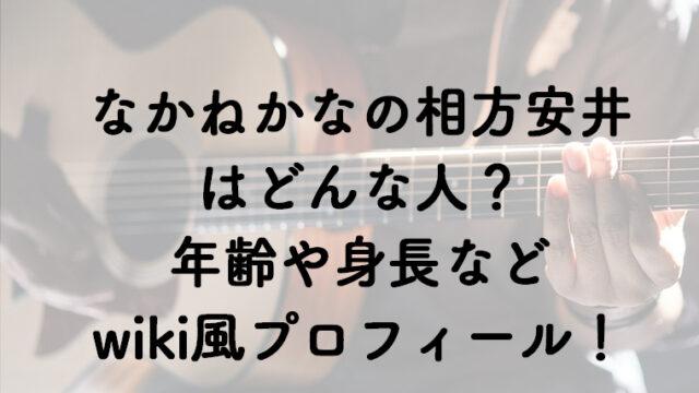 なかねかなのギター安井のwiki風プロフィール!相方は元からYouTuber?