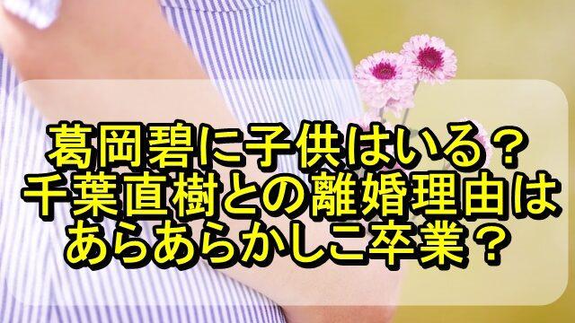 葛岡碧に子供はいる?千葉直樹との離婚理由はあらあらかしこ卒業?