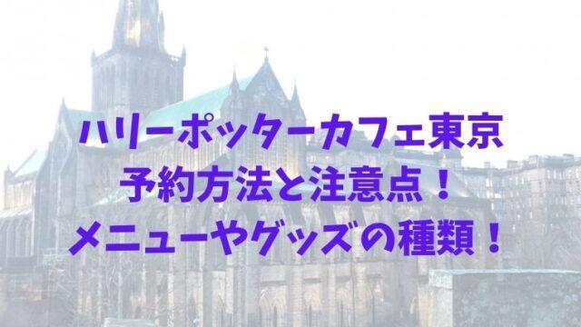 ハリーポッターカフェ東京の予約方法と注意点!メニューやグッズの種類!