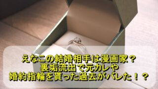 えなこの結婚相手は漫画家?裏垢流出で元カレや婚約指輪を貰った過去がバレた!?