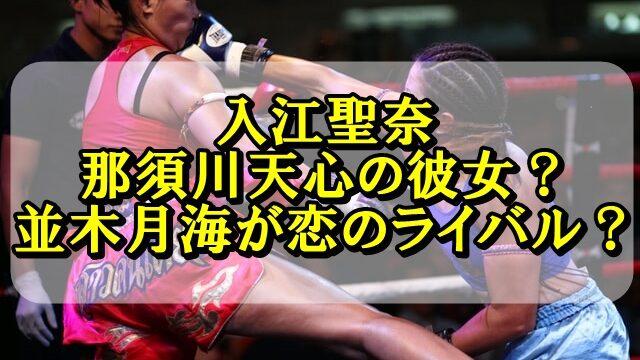 入江聖奈は那須川天心の彼女?並木月海が恋のライバルの噂も調査!