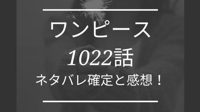 ワンピース1022話ネタバレ最新確定と感想!ジュクジュクの術で巨大龍に?
