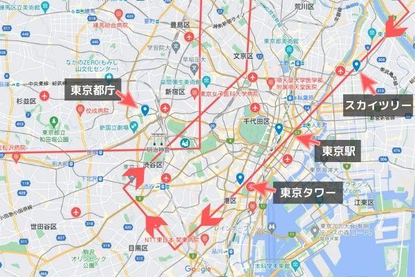 パラリンピック開会式ブルーインパルス飛行ルート見える場所/東京スカイツリー・東京駅・東京タワー上空を飛行ルート