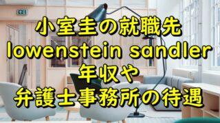 小室圭の就職先はlowenstein sandler?年収や弁護士事務所の待遇も調査